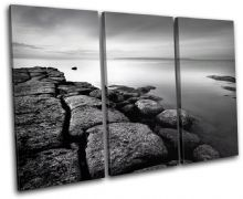 Rocks BLACK WHITE Sunset Seascape - 13-0123(00B)-TR32-LO